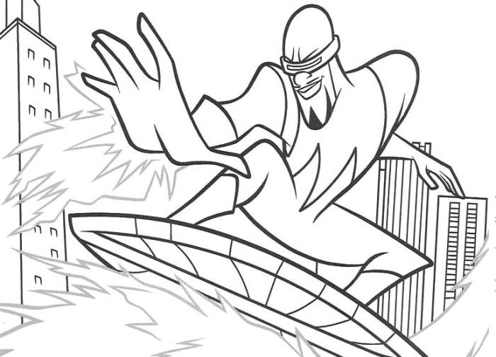 the incredibles frozone coloring pages