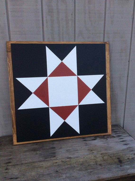 Ohio Star Barn Quilt Sign By Sophisticatedhilbily On Etsy