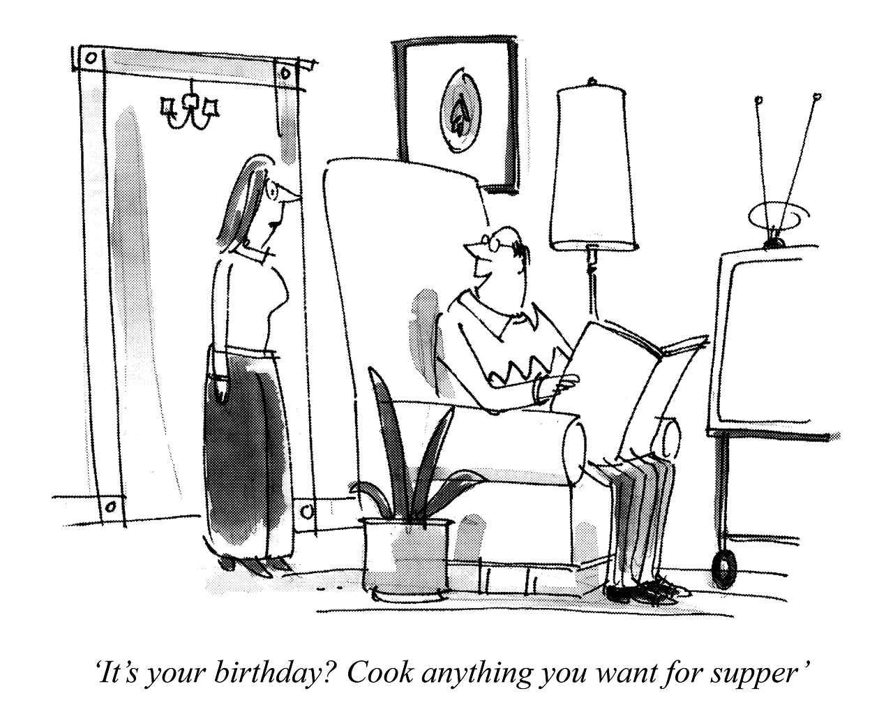 Cartoon From Punch Available As A Woodmansterne Greeting Card
