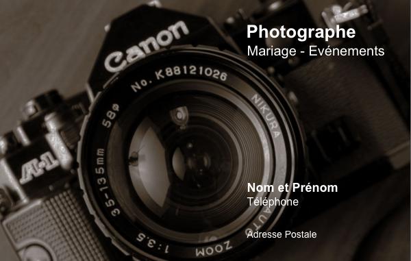 Carte De Visite Photographe Créez Gratuitement à Partir De