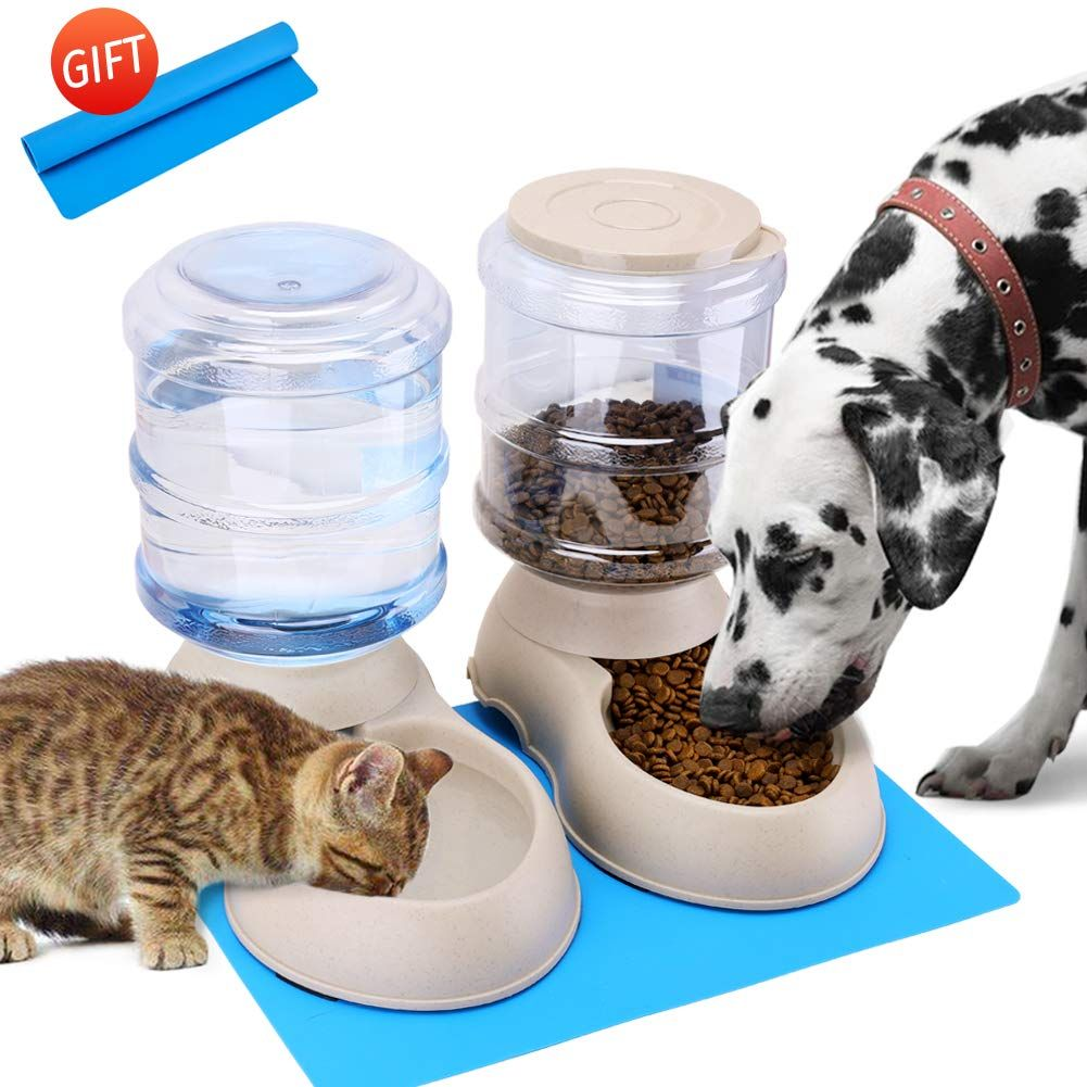 Automatic Cat Feeder and Water Dispenser in Set with Pet