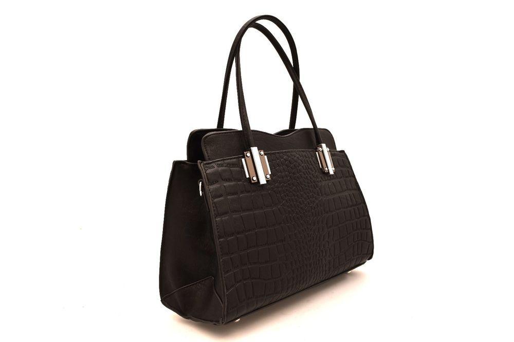 HAND BAG 1532 314A NERO Cocco Borsa Mano Manici Shopping Bauletto Tracolla Donna