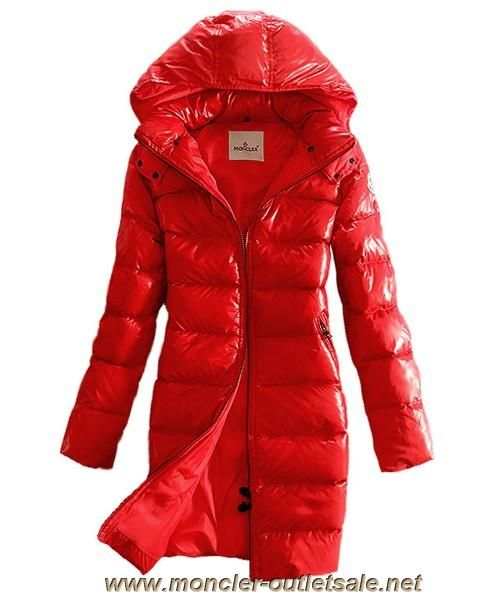 red shiny moncler jacket
