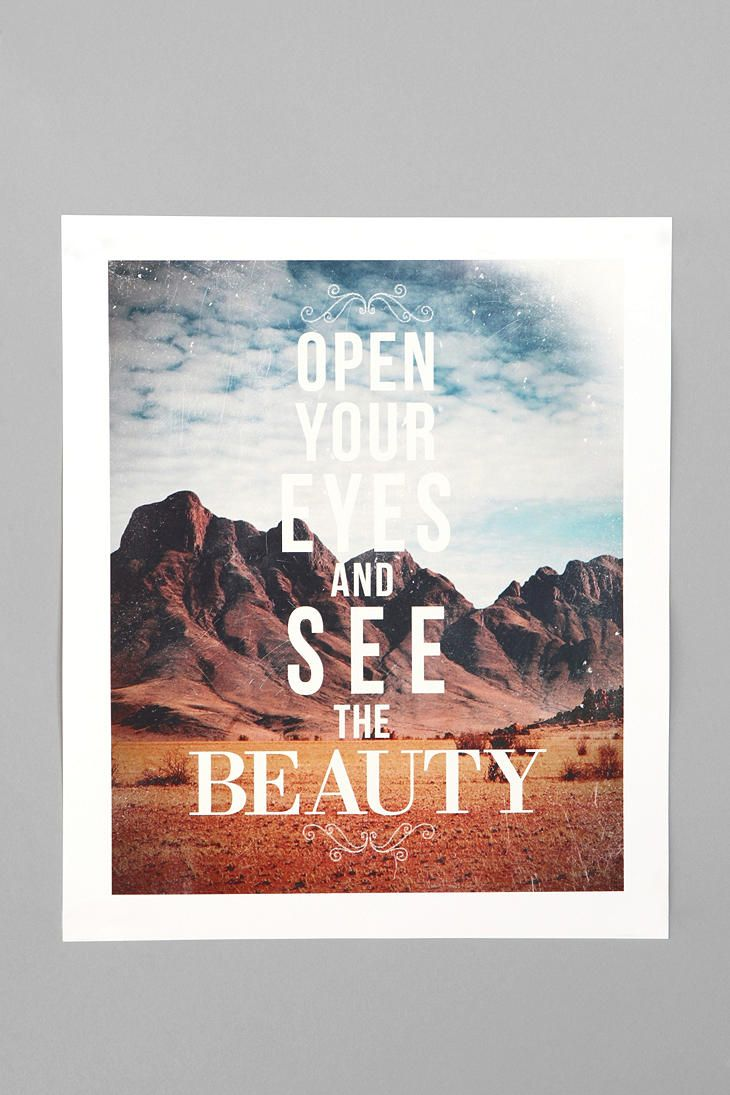 Zach Terrell For Society6 The Beauty Print Online Only