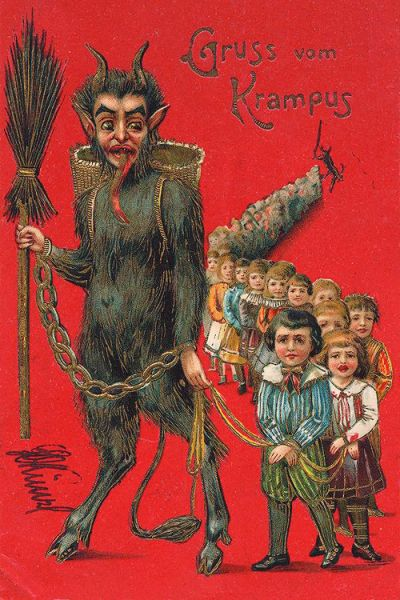 Krampus from vintagegal.tumblr.com | The Weekend Dossier on Dappered.com