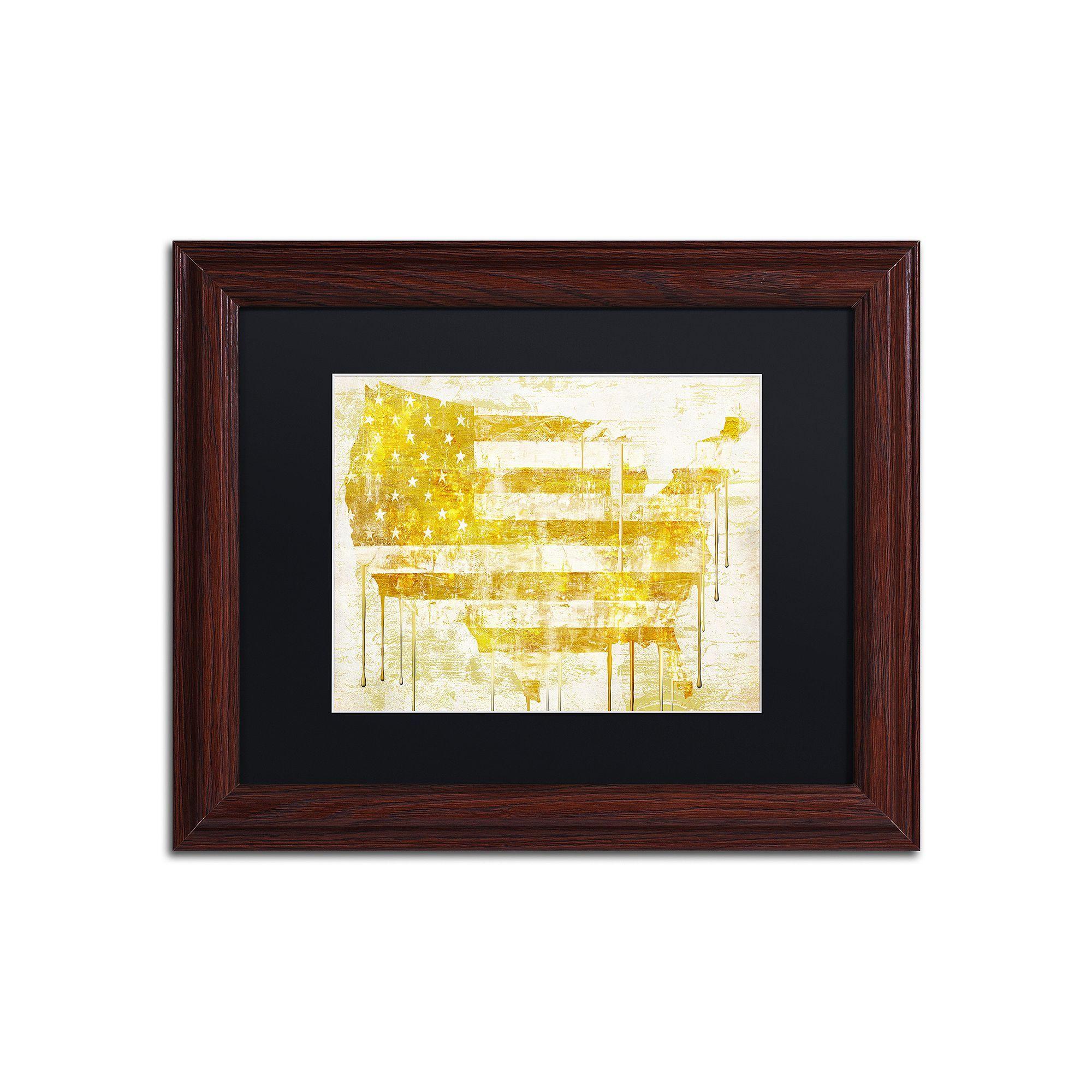 Trademark Fine Art American Dream I Traditional Framed Wall Art ...