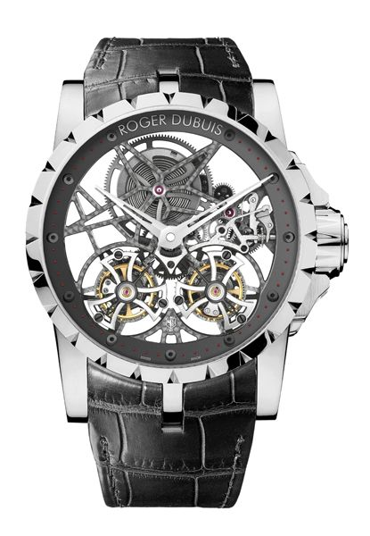 Roger Dubuis - Excalibur Skeleton Double Flying Tourbillon #roger-dubuis #horlogerie @calibrelondon