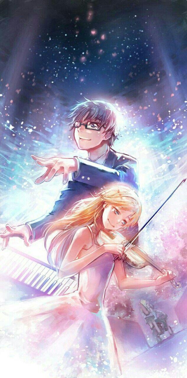 Shigatsu Wa Kimi No Uso Seni Anime Gambar Anime Gambar