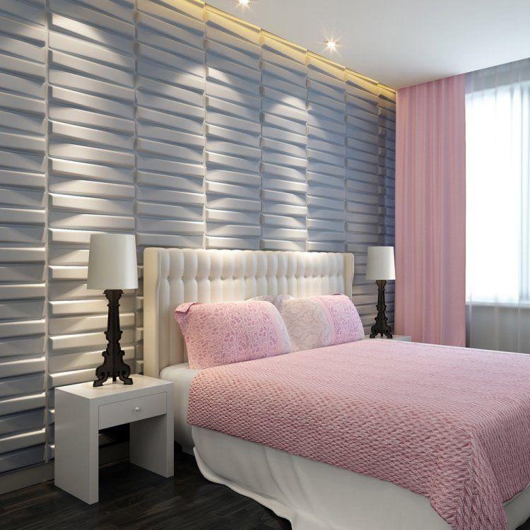 panneau mural parement design et papier peint en 88 id es mat riaux pinterest panneaux. Black Bedroom Furniture Sets. Home Design Ideas