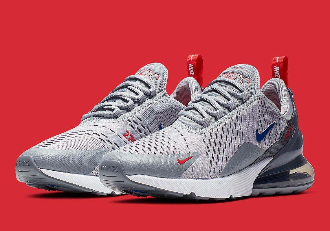 Nike Air Max 270 Grey Blue Red Release Info Cd7338 001 Sneakernews Com Nike Air Max Air Max 270 Air Max