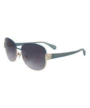 Diane von Furstenberg Teal Square Sunglasses by Diane von Furstenberg #zulily #zulilyfinds
