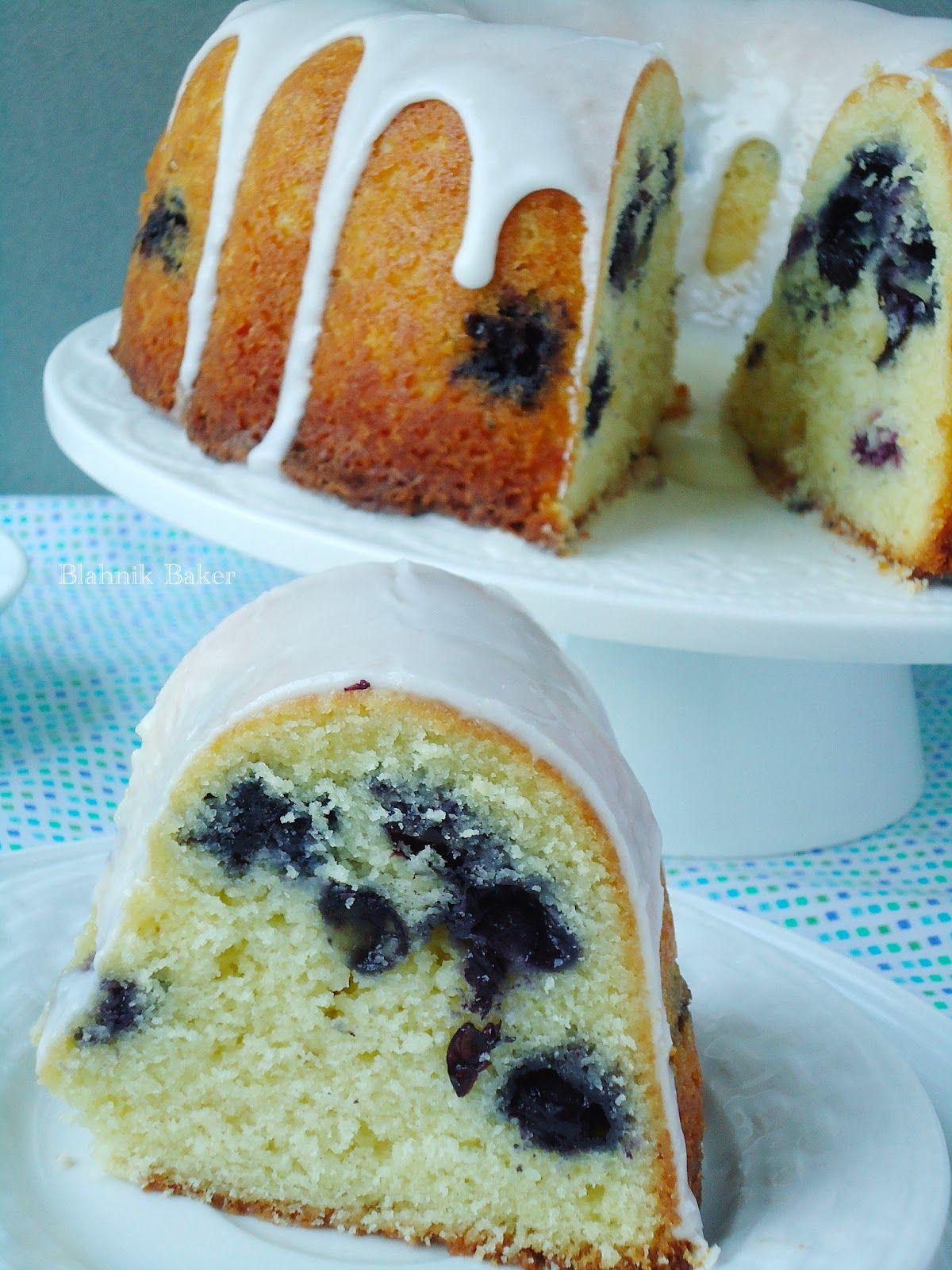 Blueberry buttermilk bundt cake with lemon glaze recipe