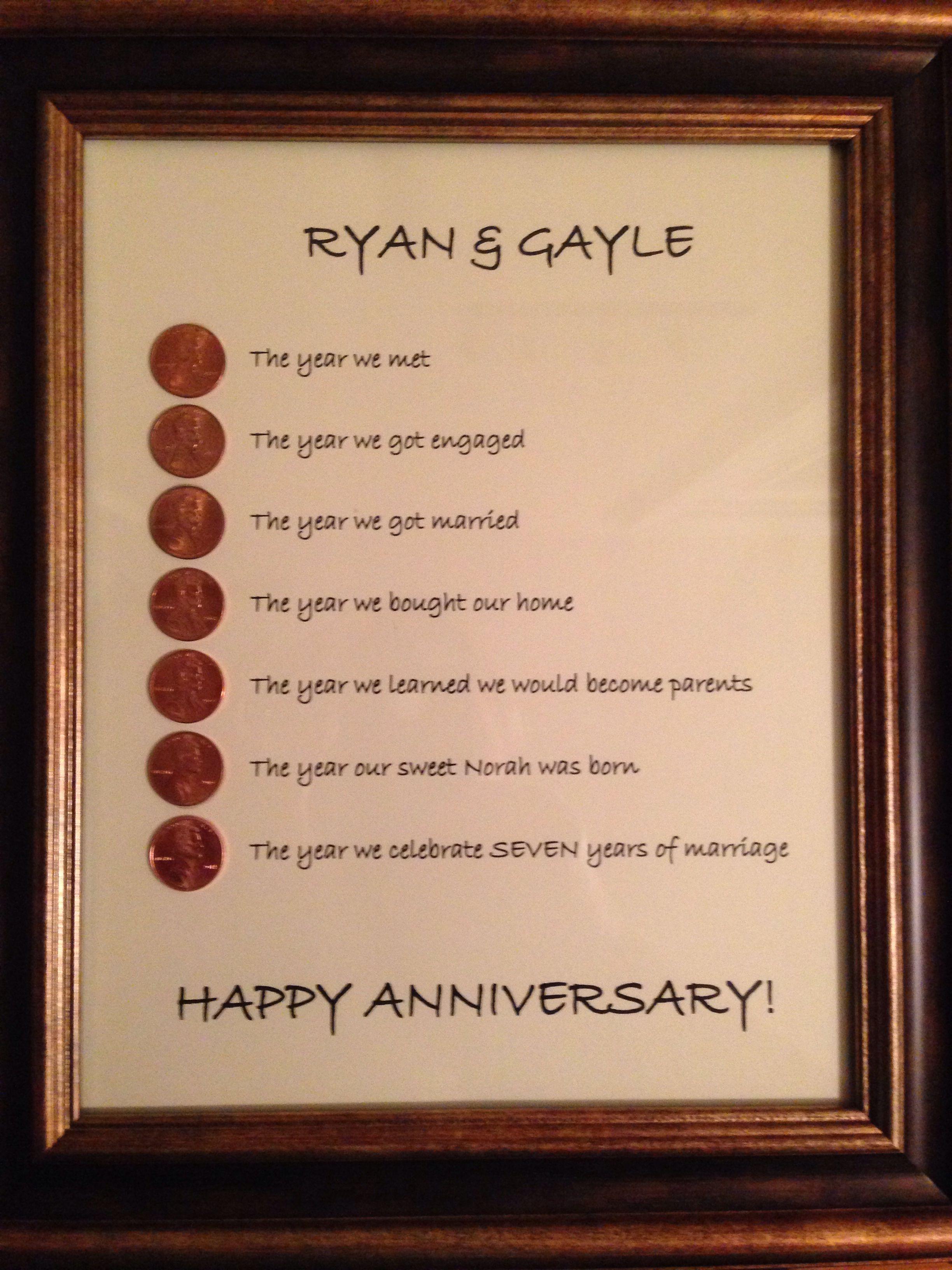 7 Year Anniversary 7 Year Anniversary 8 Year Anniversary Gift