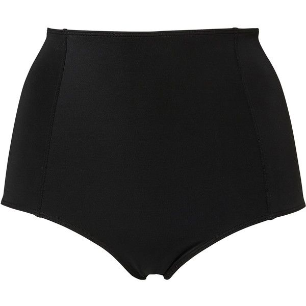 48b0c1de965ab Monki Margie bikini highwaist ($14) ❤ liked on Polyvore featuring swimwear,  bikinis, shorts, bikini, swimsuit, bathing suits, black magic, ...