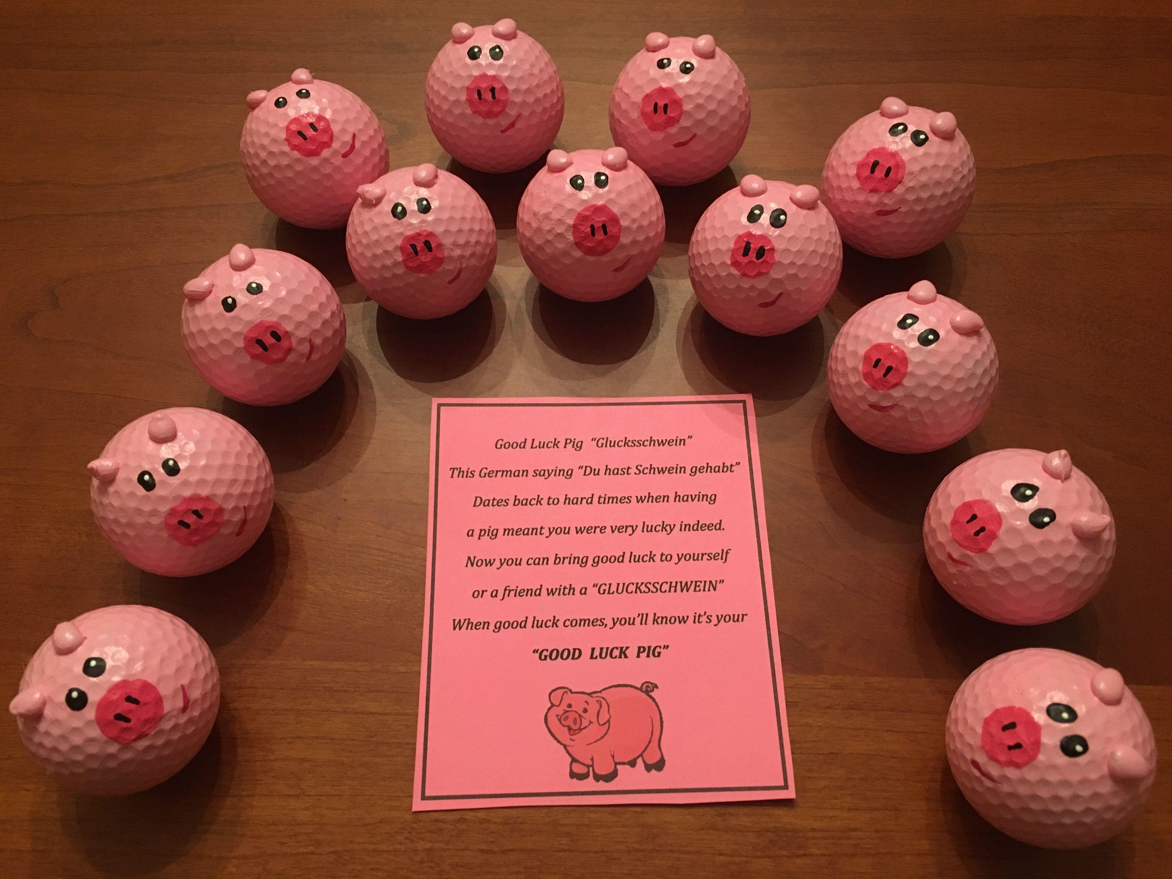 Golf ball good luck pigs golf ball crafts crafts