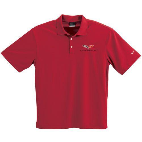 C6 Corvette Red Nike Dry Fit Polo Shirt Nike Polo Shirts Nike Polo Shirts
