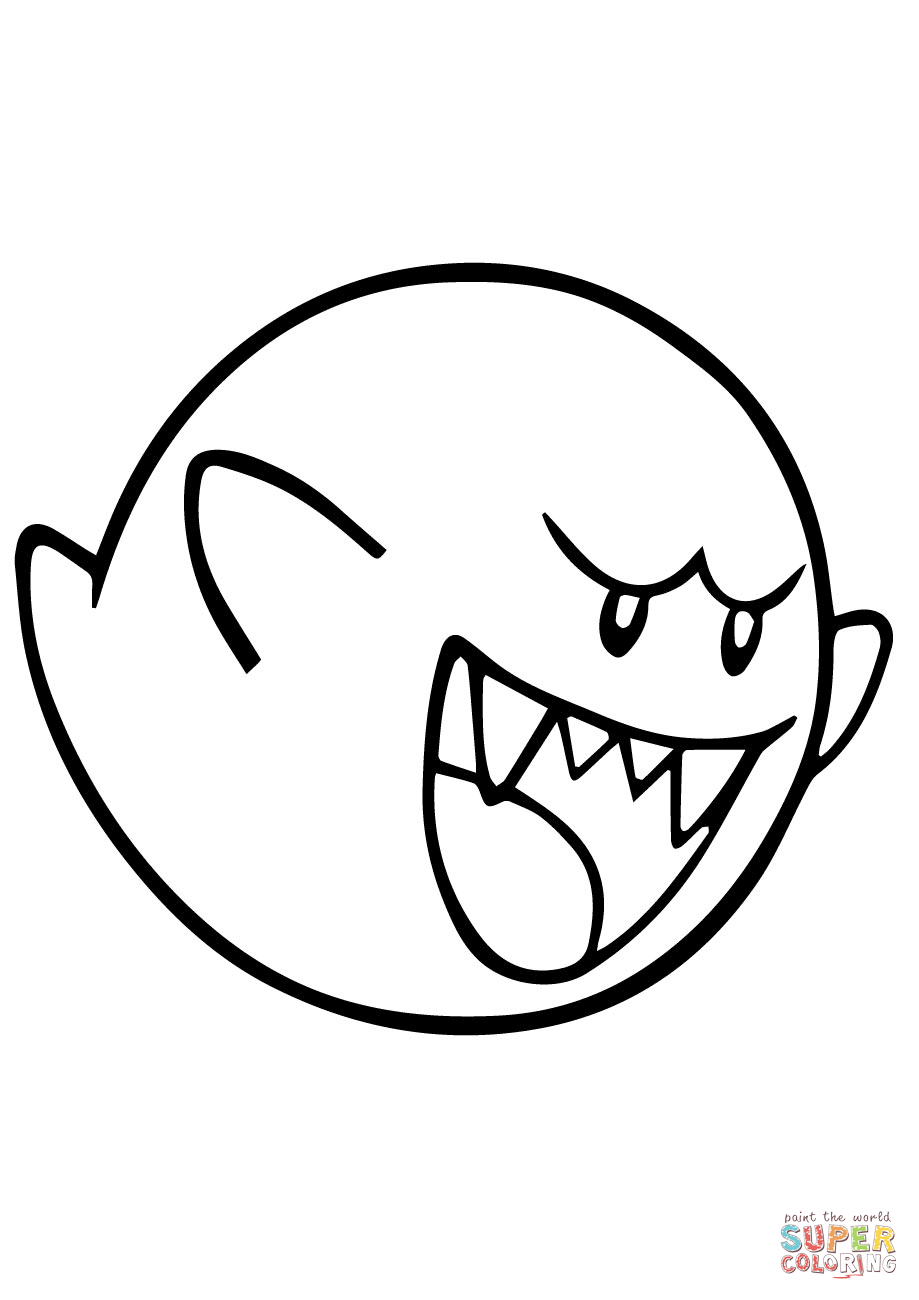 King Boo Coloring Pages In 2021 Coloring Pages Mario Coloring Pages King Boo
