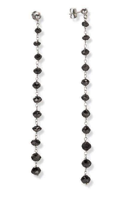 black diamond ear rings