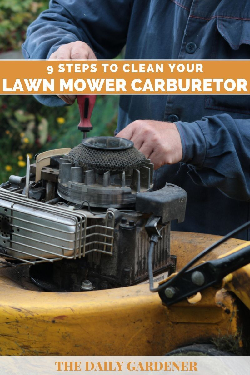 how to clean lawn mower carburetor filter