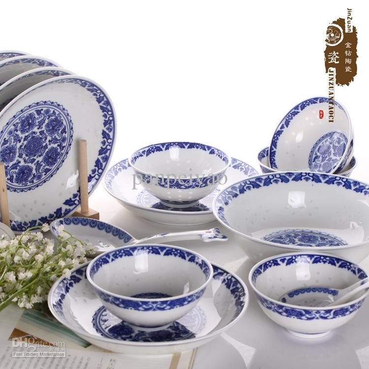 Wholesale Dinnerware Set - Buy Blue And White Handmade Ceramic ...