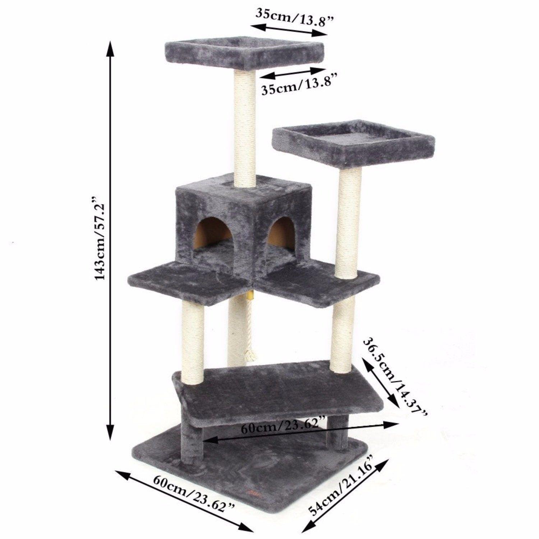 Cat Toys Cat House Animal Climbing Frame Multi-layer Cat Tree Cat ...
