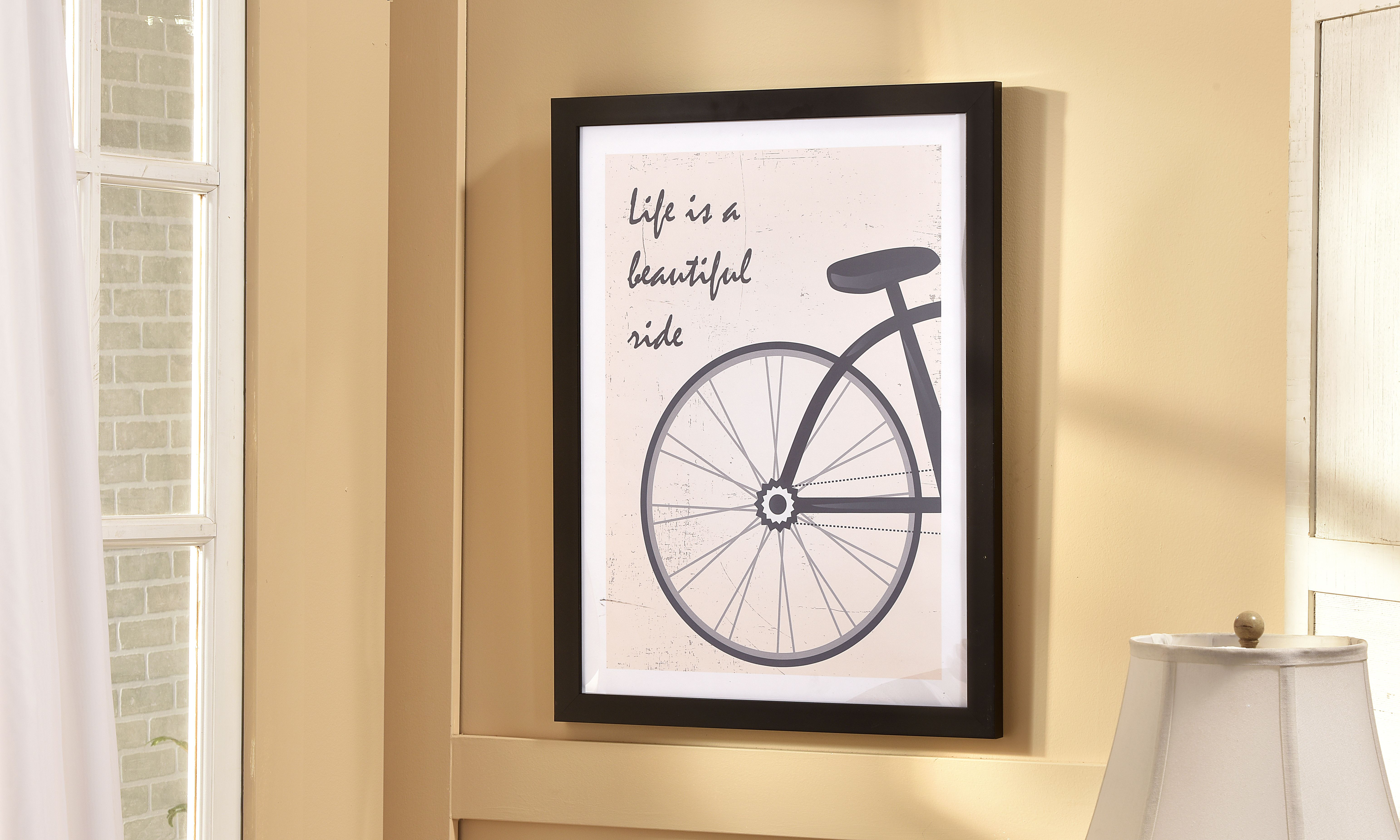 Giftcraft - Bicycle Wheel/Sentiment Wall Print Decor