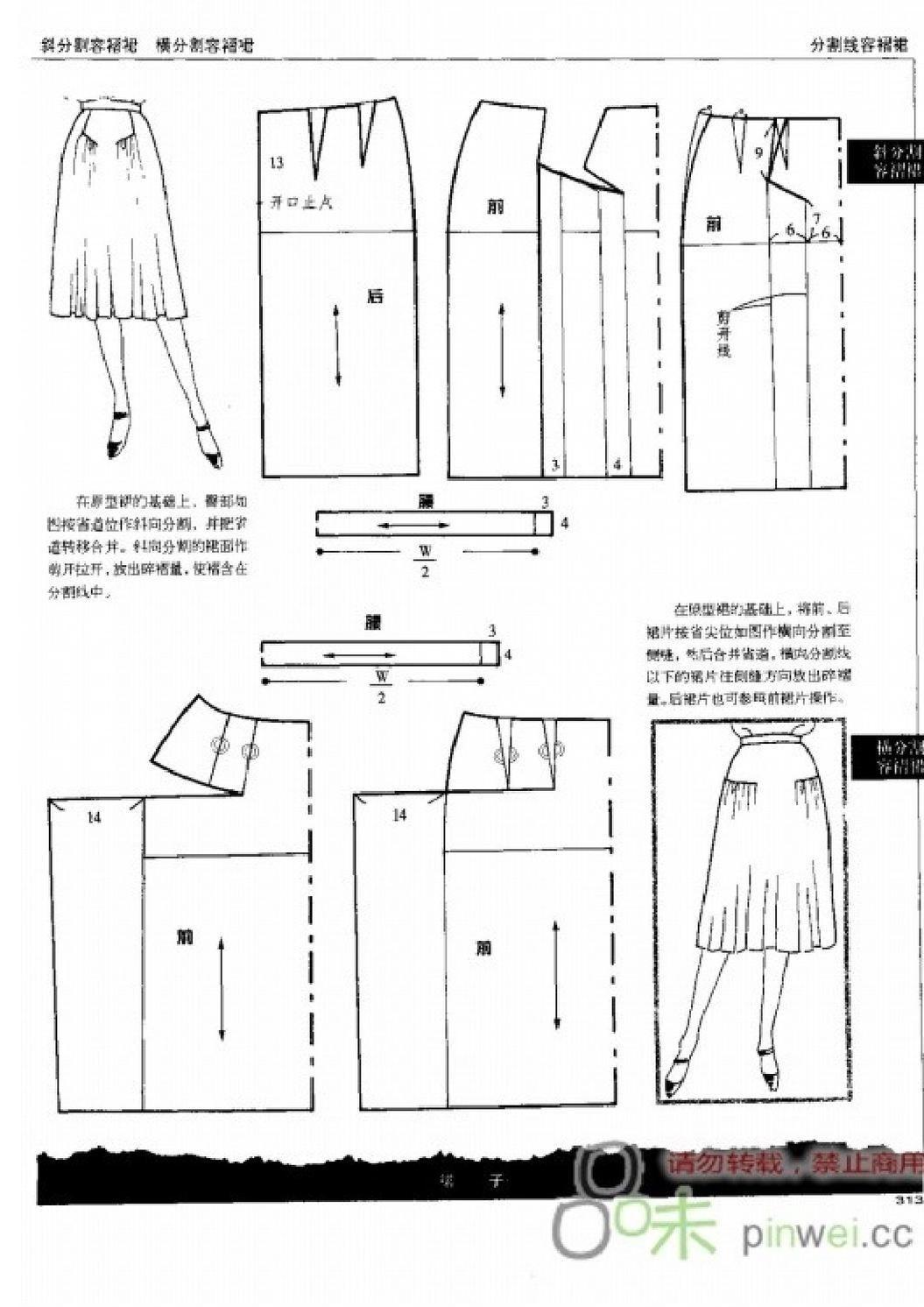 fabric0027 | etek çizimi | Pinterest | Costura, Patron falda y Patrones