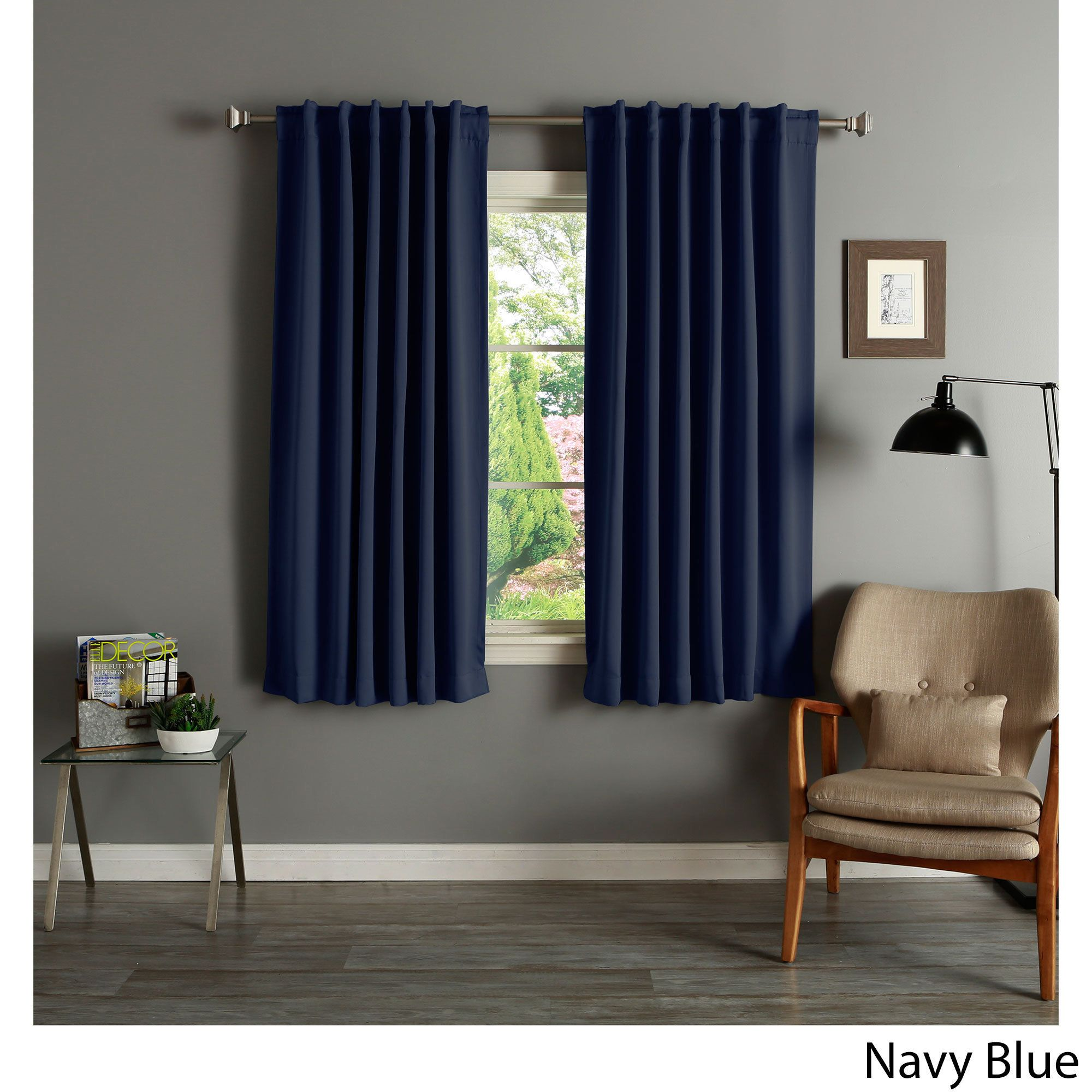 Stunning Aurora Home Solid Insulated Rmal Blackout Curtain Panel Pair Size X Aurora Home Solid Insulated Rmal Blackout Curtain Panel Navy Blue Curtains Dunelm Navy Blue Curtains Walmart baby Navy Blue Curtains