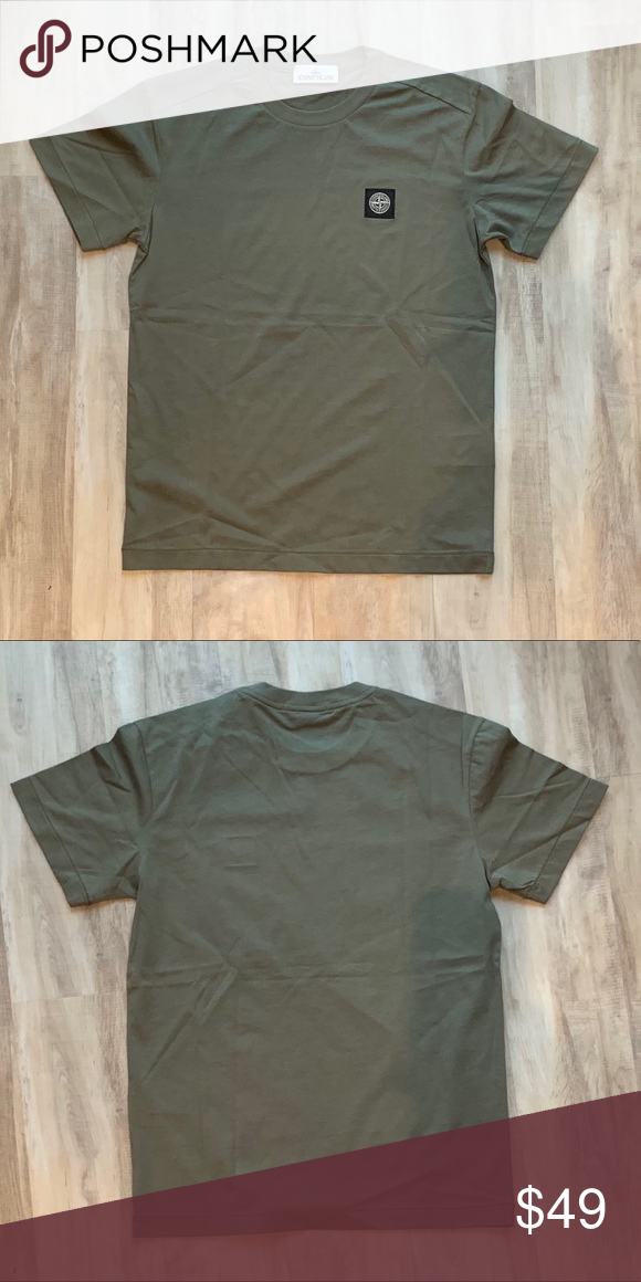 Stone Island Logo T Shirt Preowned In Pristine Condition Size M In Olive Green Clean Washed And Ready To Wear Clothes Design Stone Island Shirt Tshirt Logo