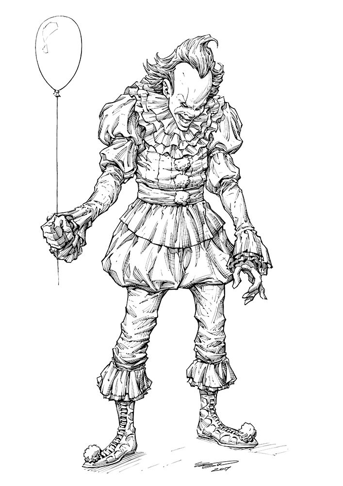 Look Kids It S Pennywise Had A Merry Old Time Inking Up This