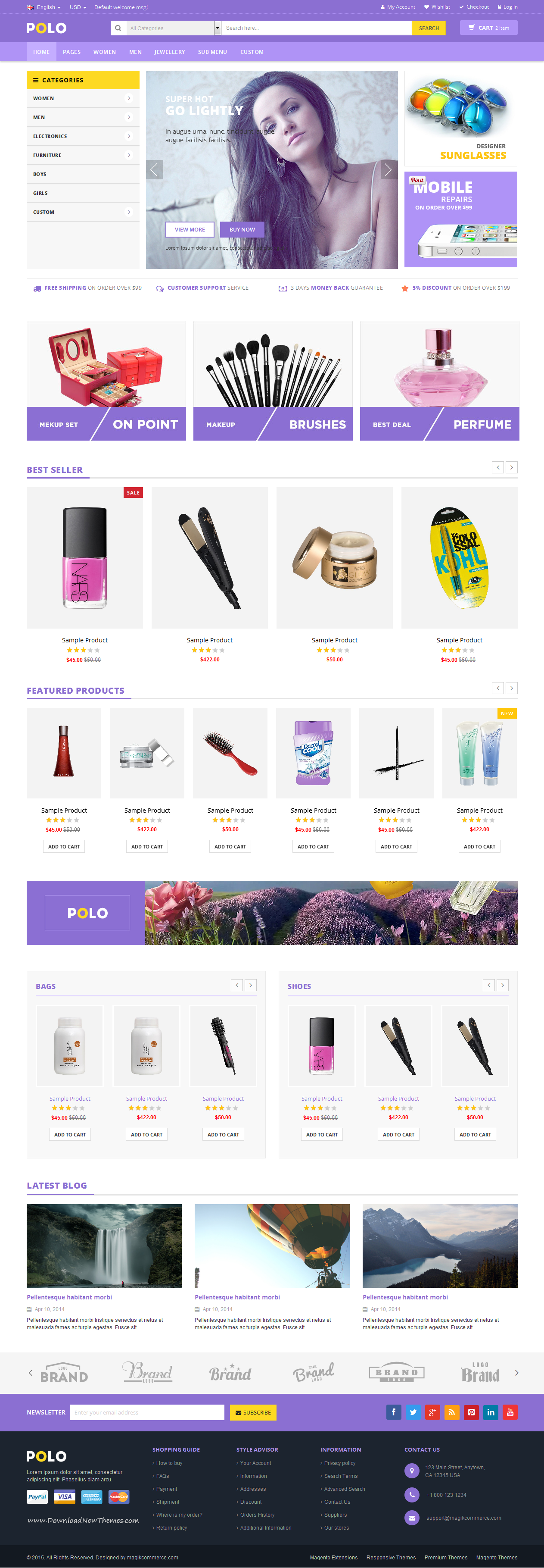 POLO is a professional #eCommerce #website template coded with ...