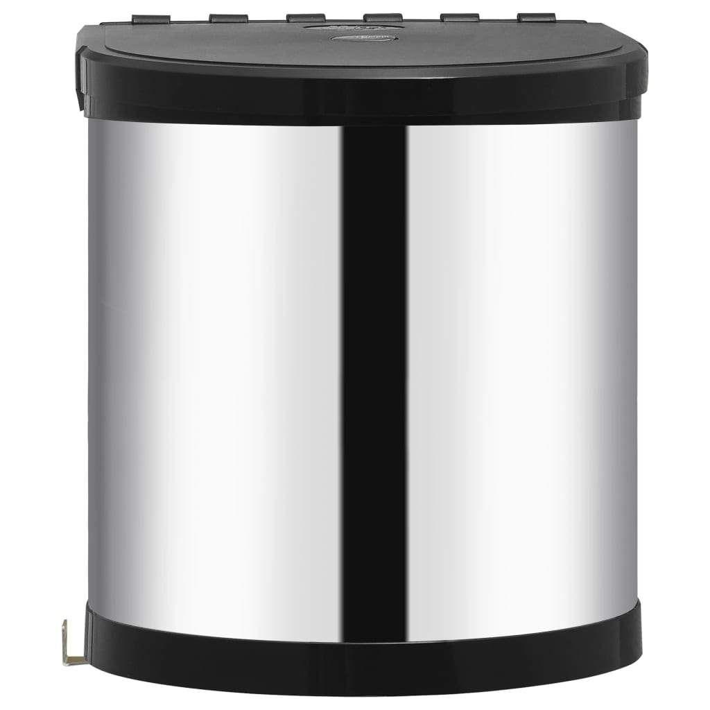 Built-in kitchen waste bin stainless steel 12 L