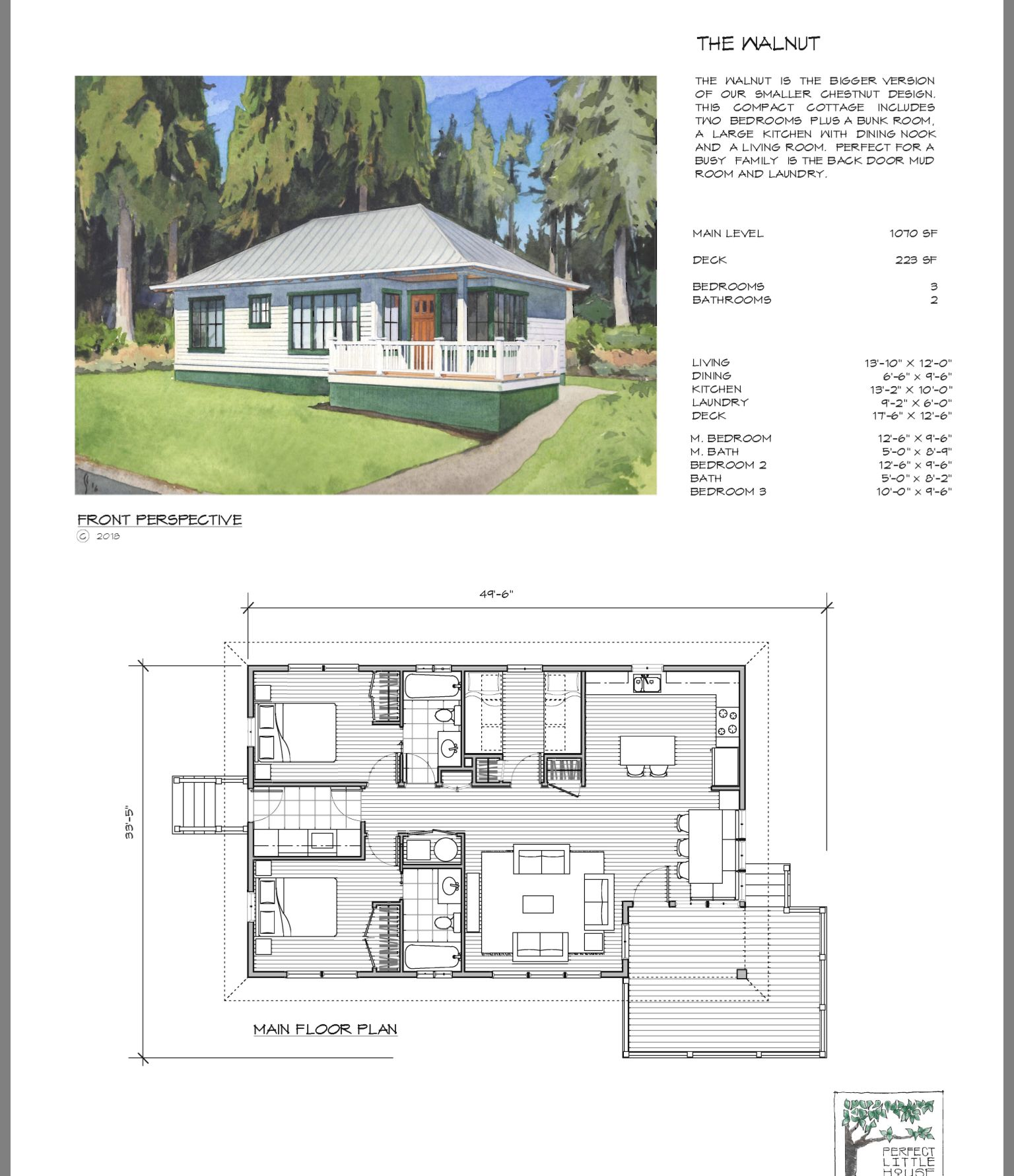 Perfect Summer Home Guest House Plans Vacation House Plans Small House Layout