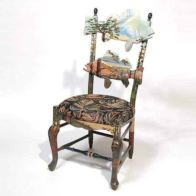 mackenzie childs forest fish chair mackenzie childs pinterest rh pinterest com Modern Dining Chairs Dining Table