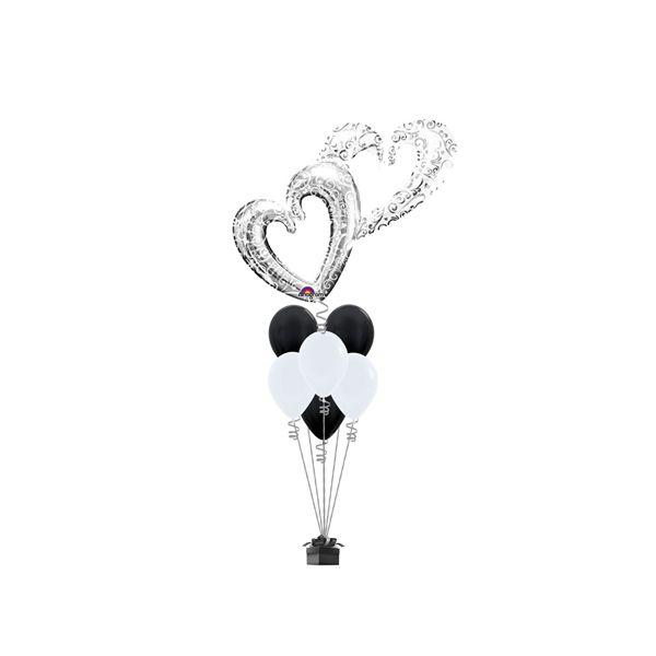Shining Hearts Wedding Balloon  #wedding #balloons #decoration