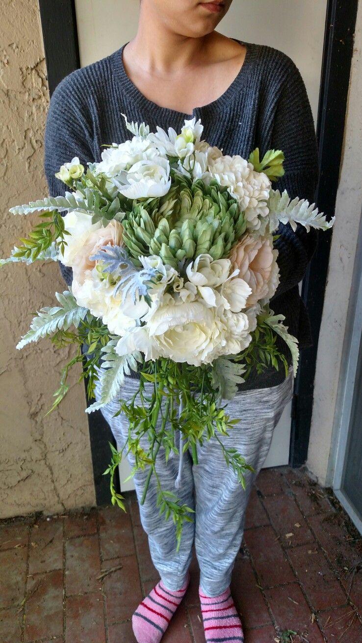 Diy silk flower bridal bouquet all flowers from michaels cost 35 diy silk flower bridal bouquet all flowers from michaels cost 35 izmirmasajfo