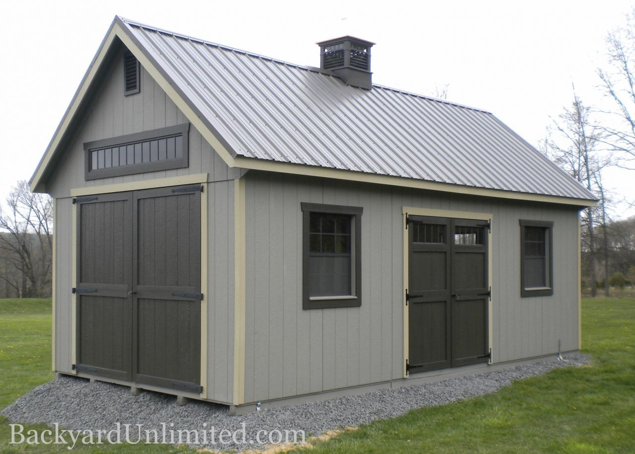 12 X36 New England Shed With 8 X8 Transom Barn Door