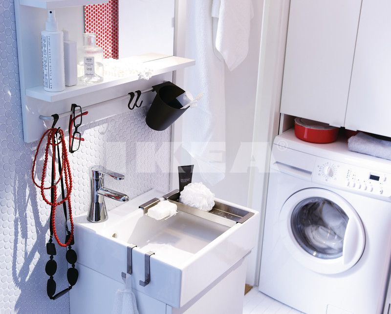 Small Bathroom Ideas Laundry white bathroom cum laundry : beautiful bathroom ideas in the ikea