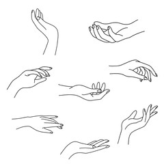 Hand Drawing Stock Photos Royalty Free Images Vectors Video Hand Outline Nail Studio Outline Art