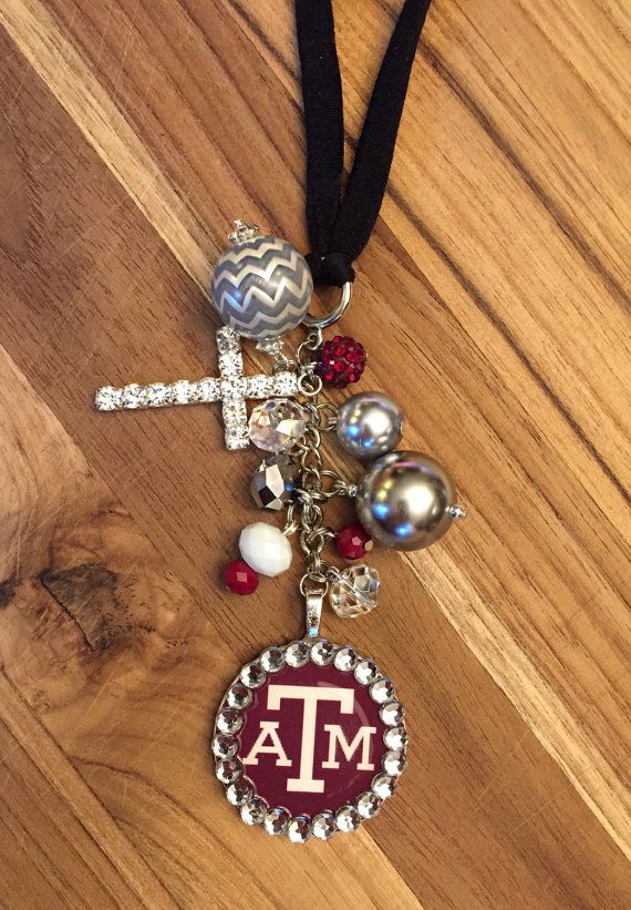Texas A&M Aggie Rear View Mirror Charm Car by TheBadaBling on Etsy ...