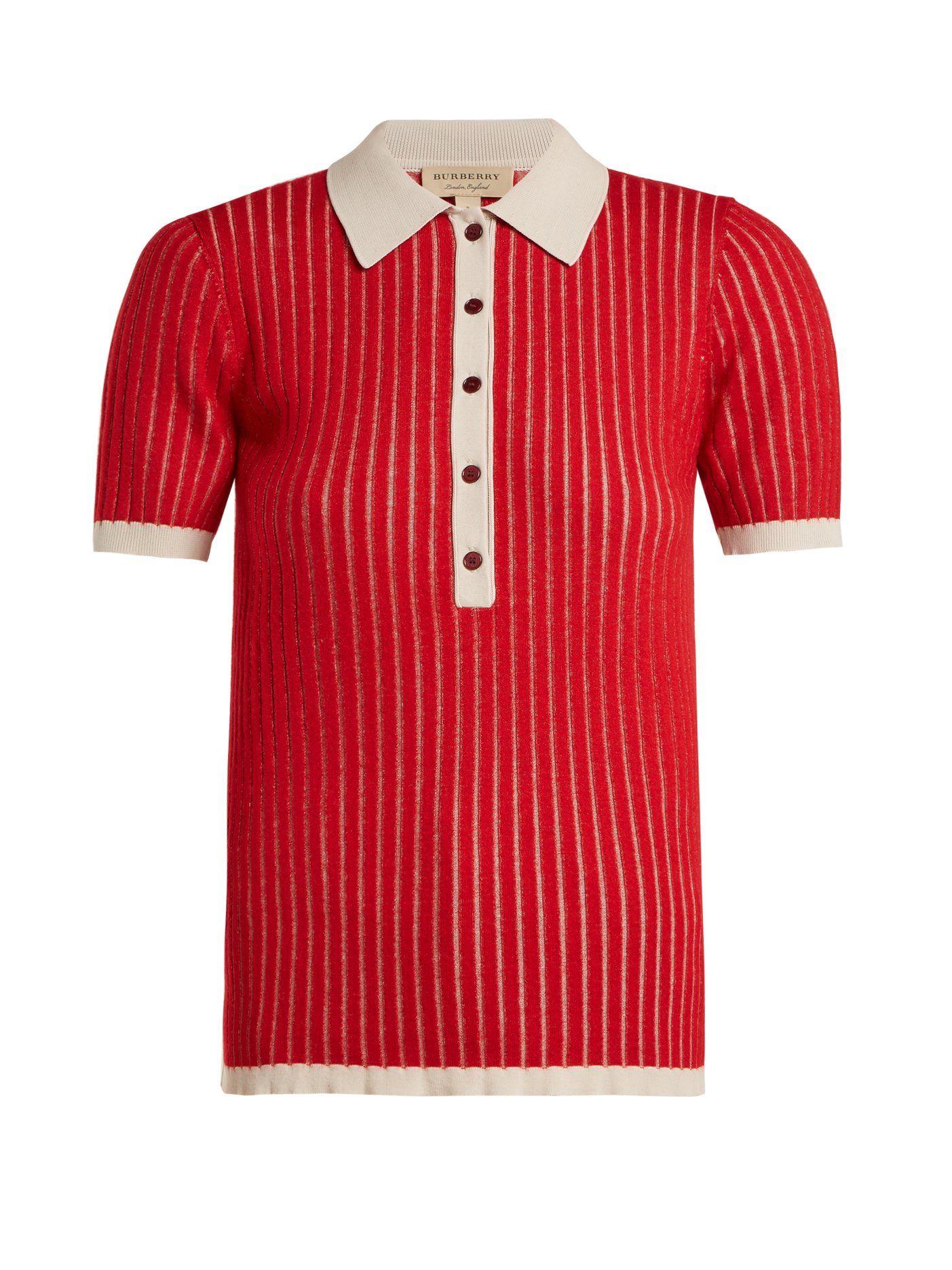 1b3d9955 Contrast-collar cashmere-blend polo shirt | Burberry | MATCHESFASHION.COM