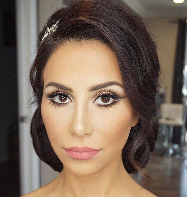 Stunning Makeup For English Wedding Dresses On Olive Skin Tones