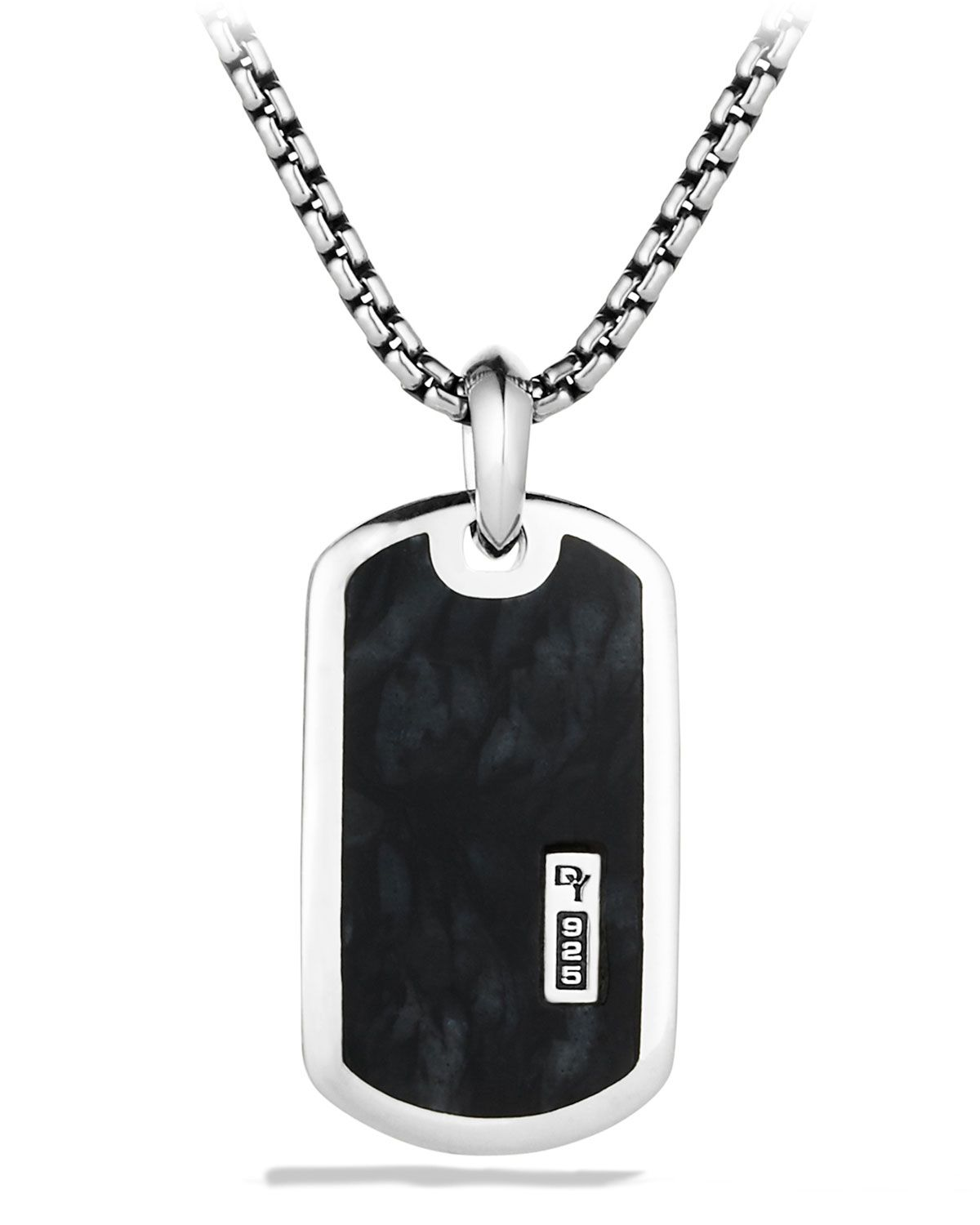 Exotic Stone Tag Necklace with Pietersite
