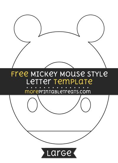Free Mickey Mouse Style Letter O Template  Large  Shapes And