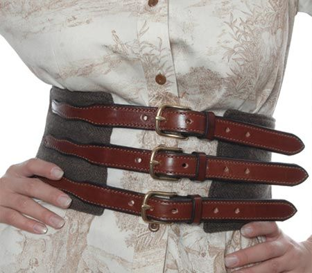 Leather Belted Waist Cincher With Images Corset Belt