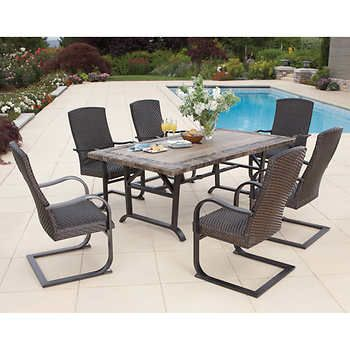Kingsley 7 Piece Woven Dining Set