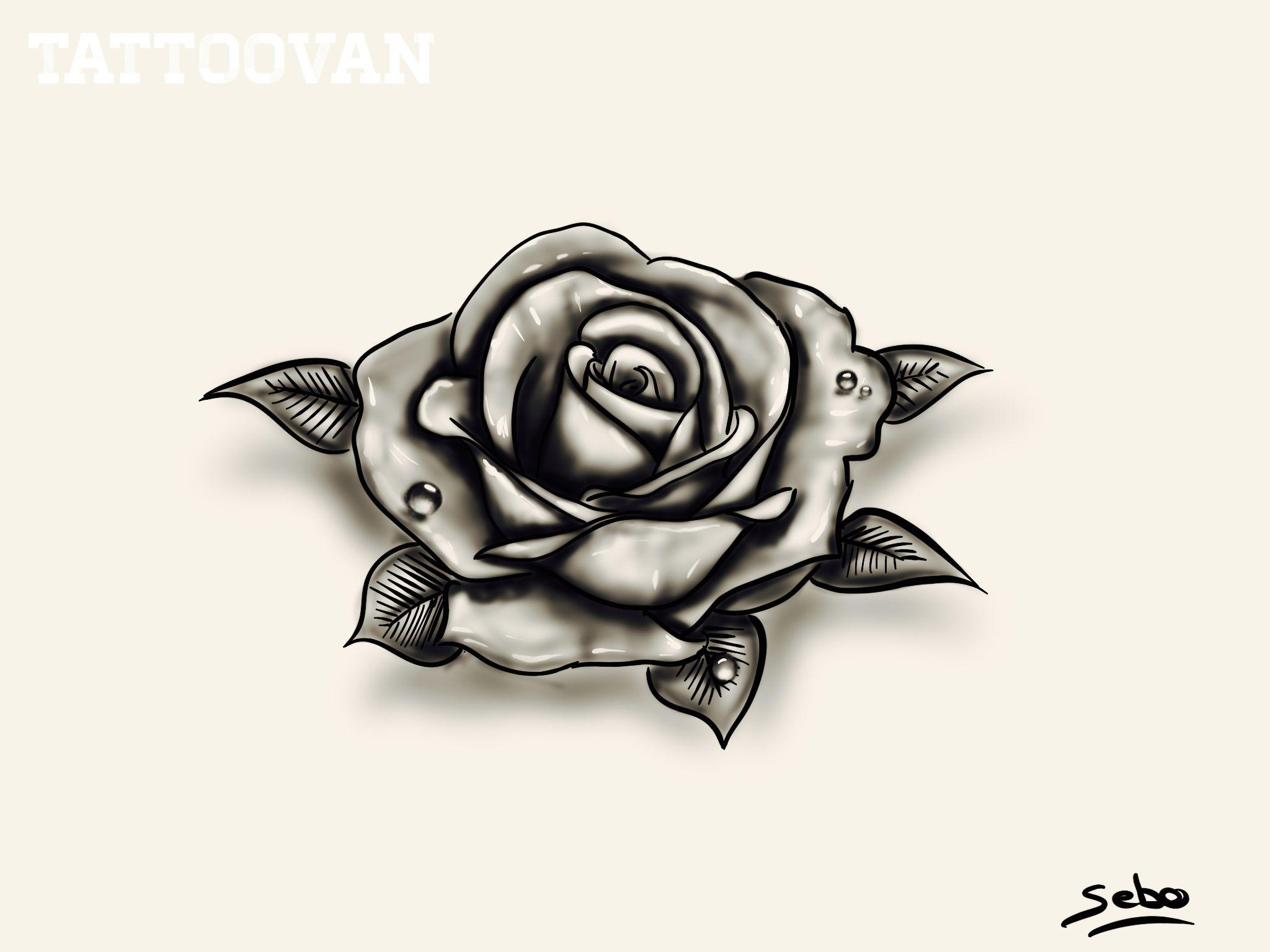Rose Dessin Tatouage Tattoo Realiste By Sebo Dessin Tatouage Tatouage Dessin