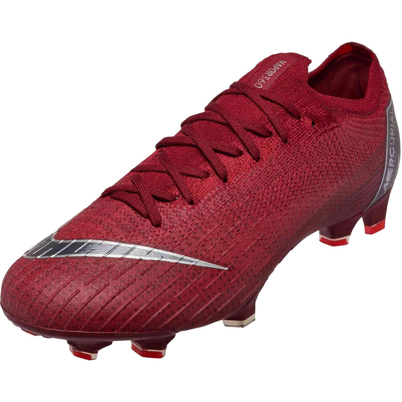 Nike Mercurial Vapor 12 Elite Fg Team Red Metallic Dark Grey Bright Crimson Soccerpro Superfly Soccer Cleats Soccer Cleats Cleats