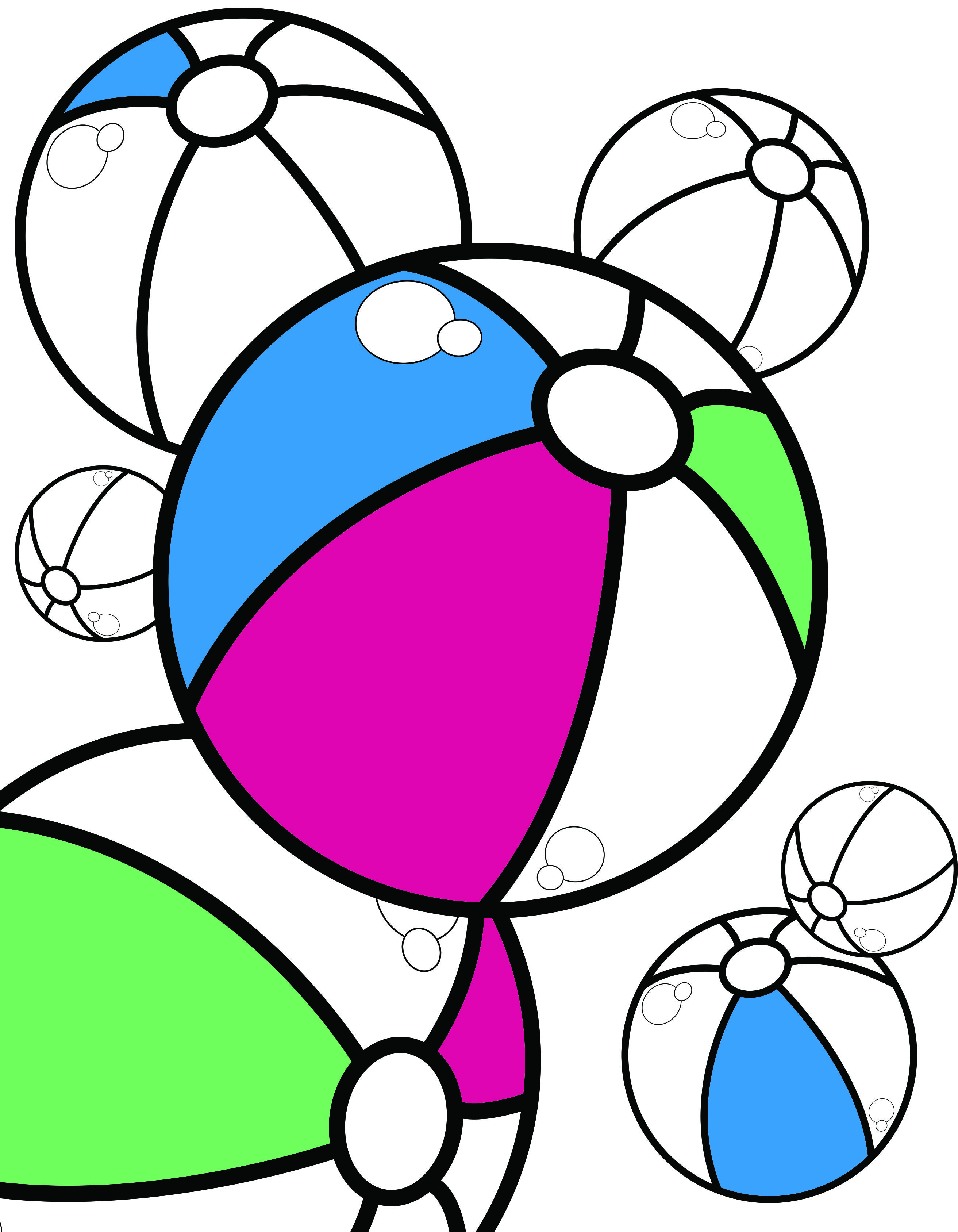Beach Ball Coloring Page Coloring Page Coloring Books Coloring Pages Illustration