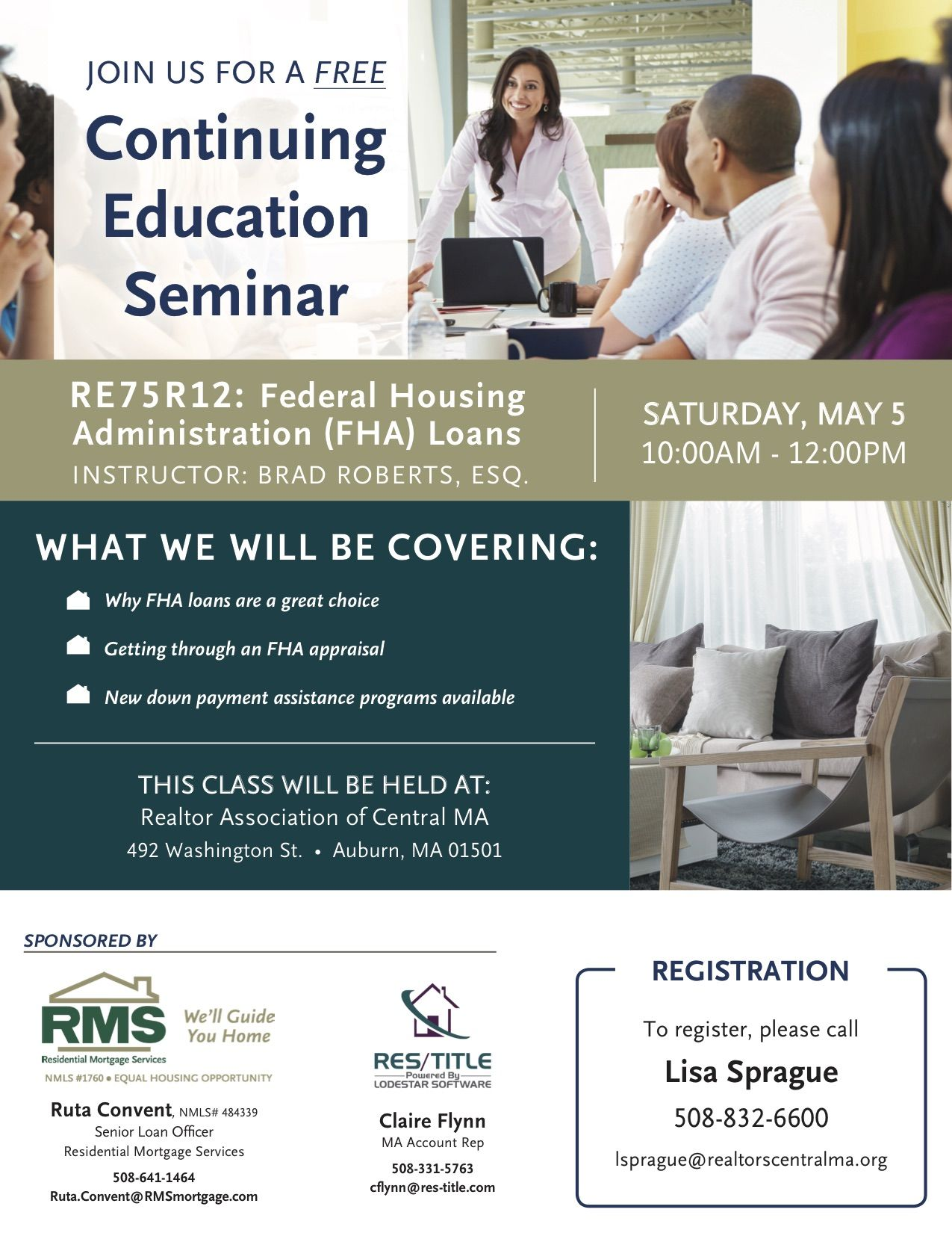 Join Us For This Informative Ceu Course On Fha Loans On May 5th